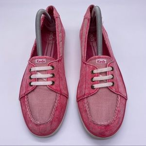 Keds distressed Red Slip on sneakers
